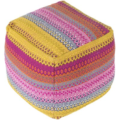 Lilou Pouf Upholstery: Orange/Pink