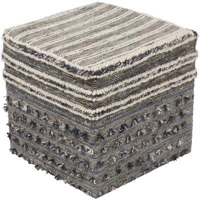 Gulzaar Pouf Ottoman Upholstery: Gray/Tan