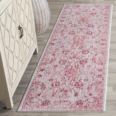 Esmeyer Pink Area Rug Rug Size: Rectangle 4 x 6