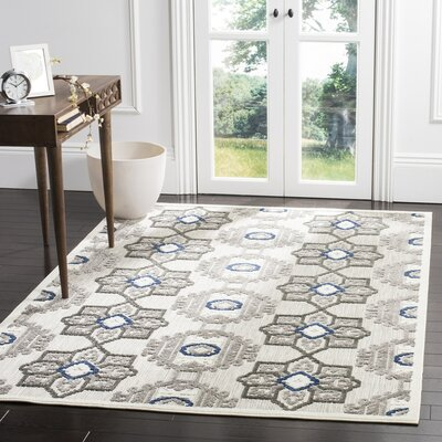 Reynolds Gray/Dark Gray Area Rug Rug Size: 53 x 77