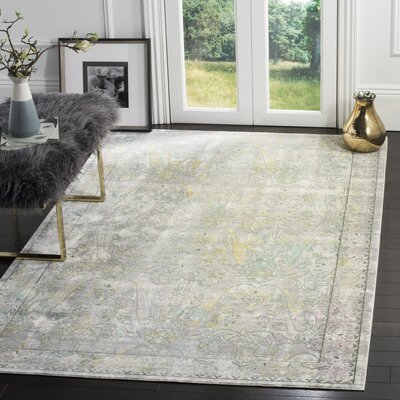 Lulu Gray / Multi Area Rug Rug Size: Rectangle 4 x 6
