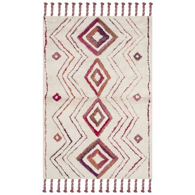 Lockheart Hand-Tufted Beige/Pink Area Rug Rug Size: Rectangle 4 x 6