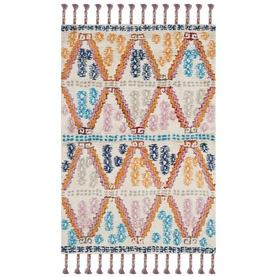 Lockheart Hand-Tufted Orange/Blue Area Rug Rug Size: Rectangle 5 x 8
