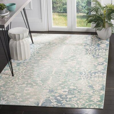 Lulu Blue/Ivory Area rug Rug Size: 5 x 8