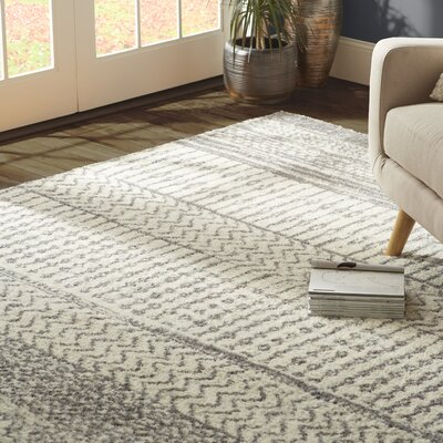 Danny Gray/Ivory Area Rug Rug Size: Runner 23 x 76