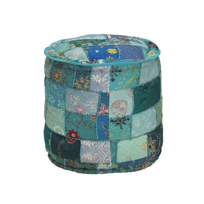 Vivian Embroidered Round Pouf