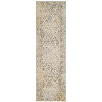 Montelimar Ivory/Grey Area Rug Rug Size: Runner 22 x 7