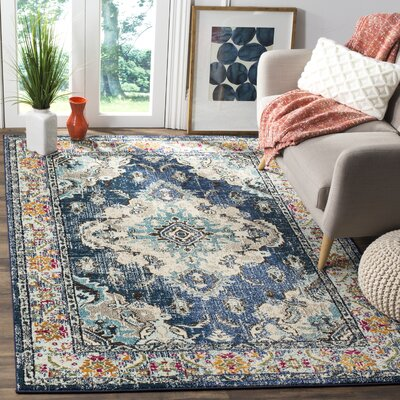 Newburyport Navy/Light Blue Area Rug Rug Size: Rectangle 12 x 18