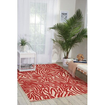 Comagna Red Indoor/Outdoor Area Rug Rug Size: 53 x 75