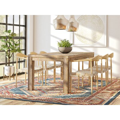 Arakaki Dining Table Size: 72 L x 36 W x 30 H, Finish: Lime Wash
