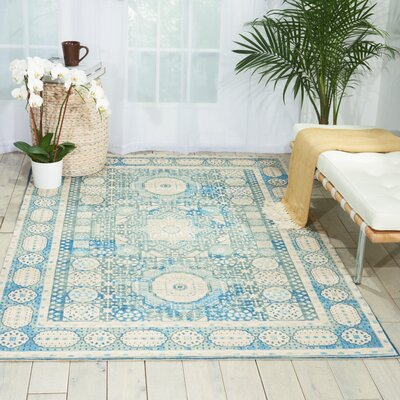 Union Point Teal Area Rug Rug Size: 36 x 56