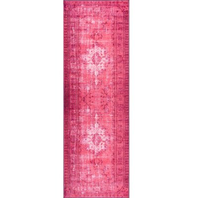 Albidale Pink Area Rug Rug Size: Runner 28 x 8