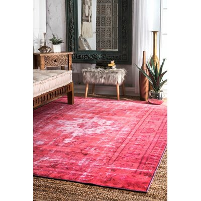 Byfield Pink Area Rug Rug Size: Rectangle 82 x 911