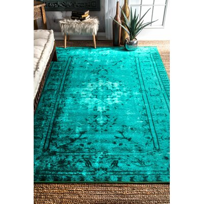 Davet Turquoise Area Rug Rug Size: Rectangle 4 x 6