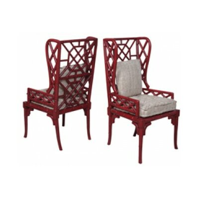 Sophia Bamboo Wingback Arm Chair Finish: Heritage Red