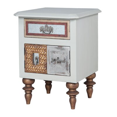 Tristian Mirror Mosaic 1 Drawer Nightstand