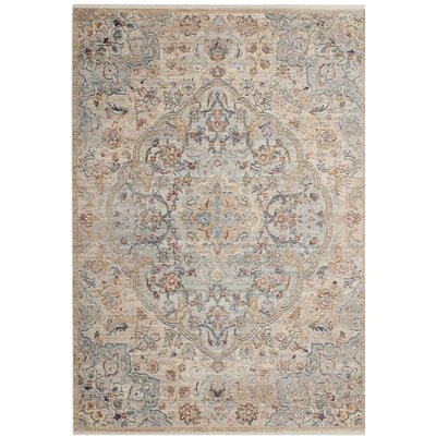 Soren Light Blue/Cream Area Rug Rug Size: 4 x 6