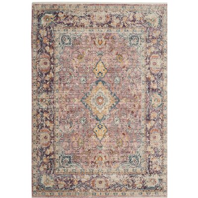 Soren Purple Area Rug Rug Size: 4 x 6