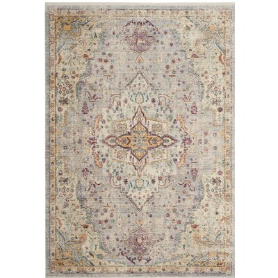 Soren Lilac/Light Gray Area Rug Rug Size: Rectangle 4 x 6