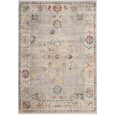 Soren Light Gray/Cream Area Rug Rug Size: 4 x 6