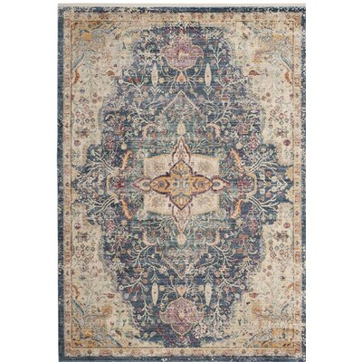 Soren Blue/Purple Area Rug Rug Size: Square 4