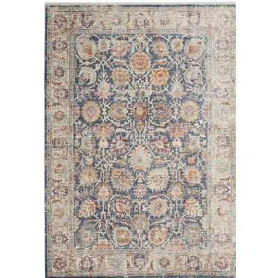 Soren Blue/Cream Area Rug Rug Size: Rectangle 4 x 6