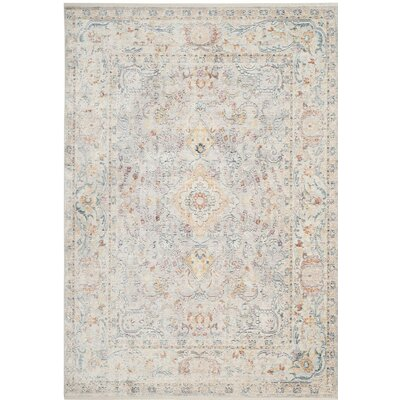 Soren Light Gray/Cream Area Rug Rug Size: 8 x 10