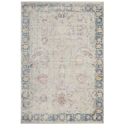 Soren Light Gray/Purple Area Rug Rug Size: 5 x 8