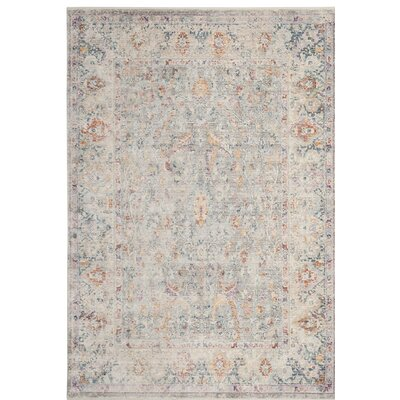 Soren Light Gray/Cream Area Rug Rug Size: 6 x 9