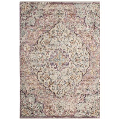 Soren Cream/Rose Area Rug Rug Size: Rectangle 4 x 6