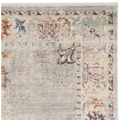 Soren Light Gray/Cream Area Rug Rug Size: Rectangle 8 x 10