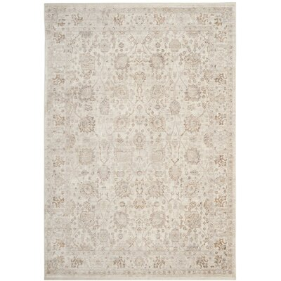 Soren Cream/Light Brown Area Rug Rug Size: 5 x 8