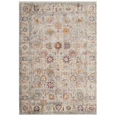 Soren Light Gray/Cream Area Rug Rug Size: Square 4