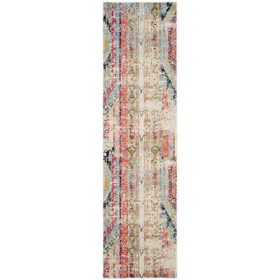 Zanzibar Green/Red Area Rug Rug Size: Runner 22 x 12