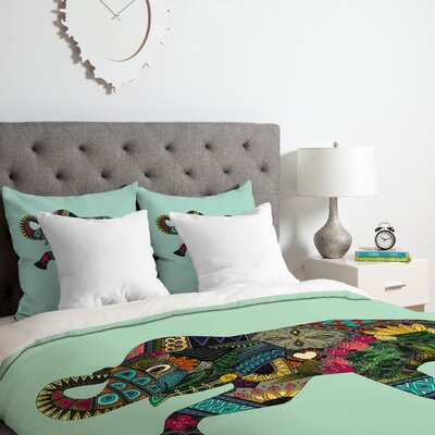 Elephant Duvet Cover Set Size: King