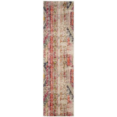 Elston Abstract Multicolor Area Rug Rug Size: Runner 22 x 6