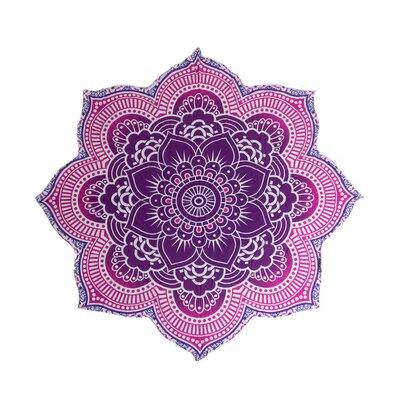 Mandala Tapestry Beach Blanket Color: Pink/Purple
