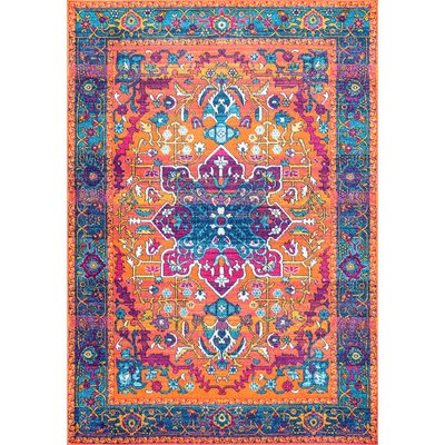 Alijah Orange Area Rug Rug Size: 9 x 12