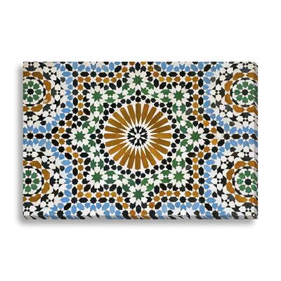 'Morrocan Mosaic Tiles' Graphic Art on Wrapped Canvas Size: 16