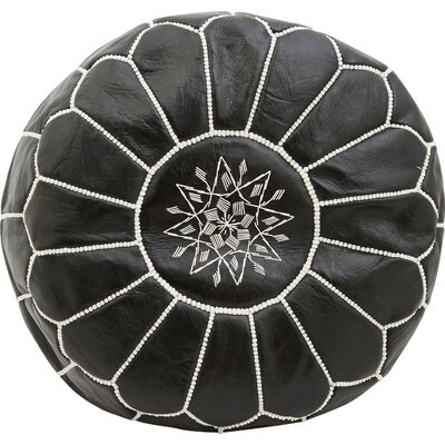 Diamanta Moroccan Pouf Cover Ottaman Upholstery: Midnight
