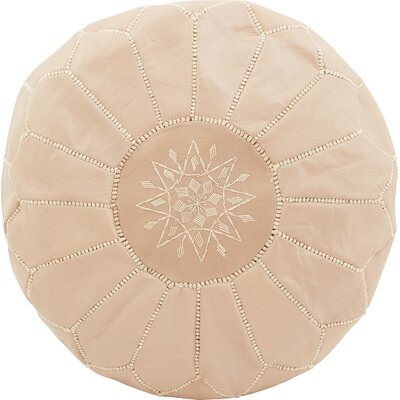 Diamanta Moroccan Pouf Cover Ottaman Upholstery: Rose