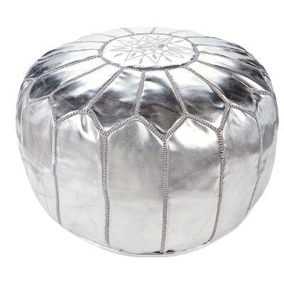Diamanta Moroccan Pouf Cover Ottaman Upholstery: Silver