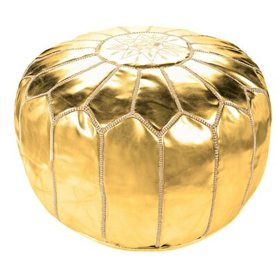 Diamanta Moroccan Pouf Cover Ottaman Upholstery: Gold