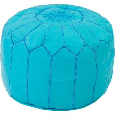 Diamanta Moroccan Pouf Cover Ottaman Upholstery: Turquoise