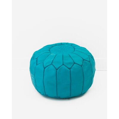 Diamanta Moroccan Pouf Cover Ottaman Upholstery: Teal
