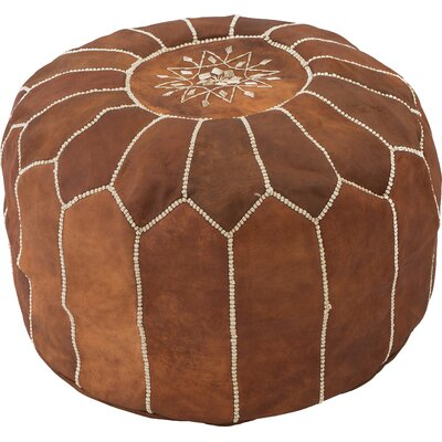 Diamanta Moroccan Pouf Cover Ottaman Upholstery: Natural Brown
