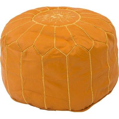 Alinda Moroccan Pouf Cover Ottaman Upholstery: Saffron