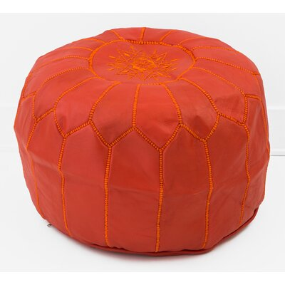 Alinda Moroccan Pouf Cover Ottaman Upholstery: Blood Orange