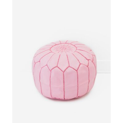 Diamanta Moroccan Pouf Cover Ottaman Upholstery: Nude