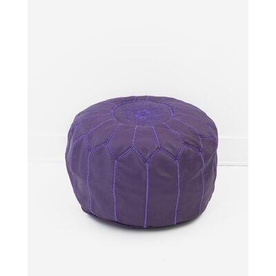 Alinda Moroccan Pouf Cover Ottaman Upholstery: Purple